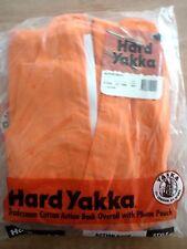 HARD YAKKA/ ACTION BACK/ OVERALLS/ 01555/ 310GSM/ HEAVY COTTON DRILL/ ORANGE