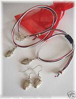 Wimbledon Strawberry Jewellery Set, Necklace, Bracelet, Earrings