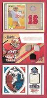 JOE MONTANA JERRY RICE STEVE YOUNG GAME USED JERSEY CARDS #d SAN FRANCISCO 49ers