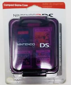 Nintendo 3DS Compact Game Case Clear Purple Stores 16 Game Cards. A+Seller.