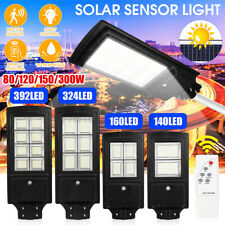 80W~300W Solar Powered LED Street Light Radar PIR Motion Sensor Wall Lamp&Remote