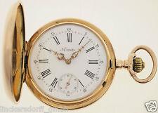 PATECK GENEVE - TASCHENUHR 14ct GOLD - 93 GRAMM -  3 VERSCHR. CHATONS - UM 1880
