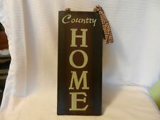 Country Home Wooden Wall Sign for Door with Ribbons