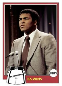 2021 TOPPS MUHAMMAD ALI THE PEOPLE'S CHAMP CARD #82 56 WINS