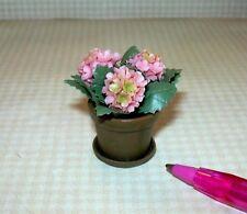 Miniature Pink Hydrangea in Terra Cotta Pot: DOLLHOUSE Miniatures 1:12 Scale