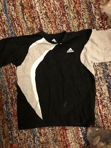 Adidas Top, Black, Grey And White, Xs