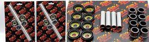 NEW Vito's UPPER LOWER a-arm bushing + caps Banshee Raptor 700 YFZ450 BOTH SIDES