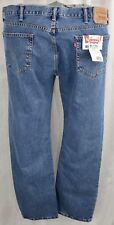 Levi's 505 42X34 Big Tall Blue Jean Straight Fit Zipper Fly Light Denim W42 L34