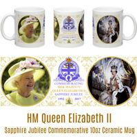 HM Queen Elizabeth II Sapphire Jubilee Commemorative 10oz Ceramic Mug