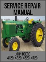 John Deere 4120 4320 4520 4720 Tractor Service Technical Manual TM2370 On USB