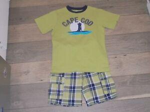 Gymboree East Coast Harbor Cape Cod shirt and matching plaid shorts boys 7