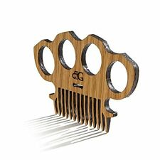 Beard Gains High Gloss Finish Brass Knuckles Beard Comb | Knuckle Duster