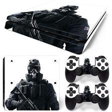 Sony PS4 Playstation 4 Slim Skin Aufkleber Schutzfolie Set - Soldier Motiv