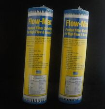 Twin pack Water Filter Cartridges 2.5 x 10 inch pleated 5 micron