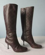 Gucci Guccissima Brown High Heel Boots