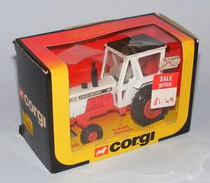 CORGI TOYS #55 DAVID BROWN 1412 TRACTOR - RARE 1981/1982 PERIOD LATE ISSUE BOX