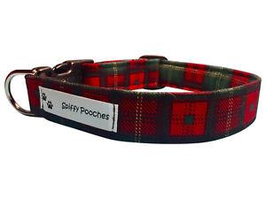 SPIFFY POOCHES Dog Cat Collar CHRISTMAS PLAID  ~B.O.G.O 50% OFF C DESCRIPTION~