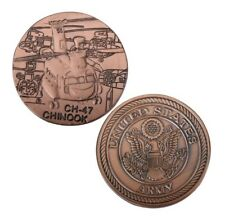 U.S. United States Army | CH-47 Chinook | Military Copper Plated Challenge Coin