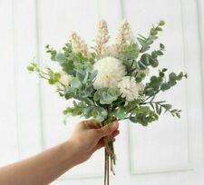 Wedding Bouquet Artificial Silk Crabapple Flower Bridesmaid Bouquet White Luxury