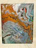 """Abstract Original Acrylic Pour Painting on Canvas Wall Art  Decor 16"""" x 20"""""""