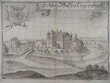 SCHLOß WASENTEGERNBACH DORFEN ERDING KUPFERSTICH WENING 1723 BAYERN H45