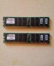 2 Sticks 1024MB 2GB Total Value RAM Fast Free Shipping