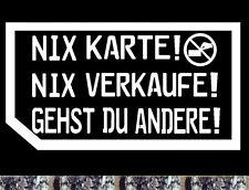 Autohändler Visitenkarte nein danke Aufkleber Nix Karte  Auto Bike