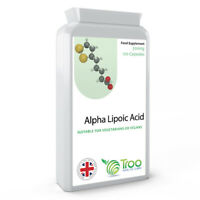Alpha Lipoic Acid 300mg 120 Capsules - UK Made GMP Guaranteed Quality ALA