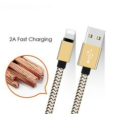 Data Sync Cable for Apple iPhone 5 5C 5S 6 Lightning Charger 8Pin USB Ipad Gold