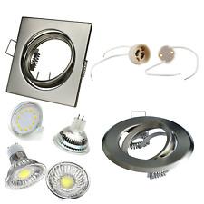 LED SMD gu10 mr16 instalación emisor spot acero inoxidable cepillado óptica cuadrada/i03 aproximadamente