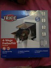 Trixie 4 way cat flap white