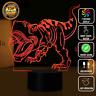 Dinosaur T Rex Jurrasic Park 3D Night Light  LED 7 Colour Touch Desk Lamp