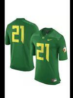 NWT Nike OREGON DUCKS #21 Football Game Player Jersey Apple Green XL OD Yellow