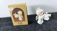 Vintage  Precious Moments Rejoice O Earth 113980 original box Angel trumpet