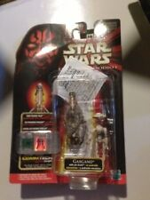 GASGANO & Pit DROID star wars EPISODE 1 (Comm Talk Chip) RED CARD