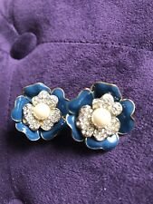 Clip Earrings Vintage Carolee Signed