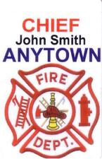 Fire Department Custom Name Card with Mylar Clip