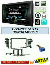 Fits 1999-2006 HONDA Select Models Stereo Kit, POWER ACOUSTIK PCD-52B, BLUETOOTH