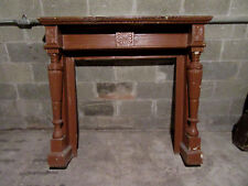 ~ Antique Carved Fireplace Mantel ~ 54.25 x 48 ~ Architectural Salvage