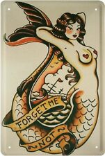 SEEMANNS TATTOO - NIXE - FORGET ME NOT - BLECHSCHILD 20x30 TIN SIGN SCHILD 1644