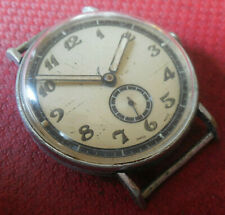 Vintage 1930s Oversized EROS 15 Jewels Military Swiss Made Running Wristwatch