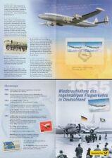 Erinnerungsblatt 2/2005 Dt.Post, Lufthansa, Super Constellation (MiNr.2450)