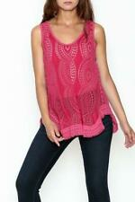 new JOHNNY WAS eyelet pink hoxie tank top shirt 1x 2x 3x plus size