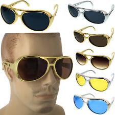 Classic ELVIS PRESLEY Sun Glasses LAS VEGAS COSTUME GOLD Silver USA Glasses
