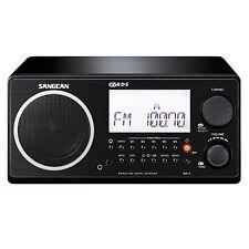 Sangean WR-2BK FM-RBDS/ AM Wooden Cabinet Digital Tuning Receiver Radio in Black