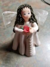 Kneeded Angels Passion 6021 Figurine Pavillion Gift holding Rose
