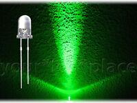 50 x 5mm LED Rund - GRÜN - 30° ULTRAHELL Rundkopf superhell green