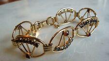 SO GLAM!  Vintage 12k Gold Filled GF Deco Retro Bracelet