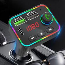 More details for bluetooth car fm transmitter mp3 player radio wireless adapter usb handsfree uk