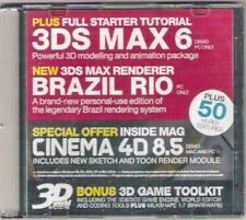 3D WORLD 51 Vintage CD-Rom 3DS MA 6 BRAZIL RIO CINEMA 4D demo 2004 Collectable